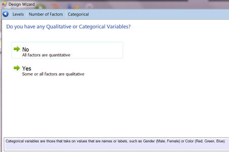 Choose if all factors are Qualitative in Quantum XL