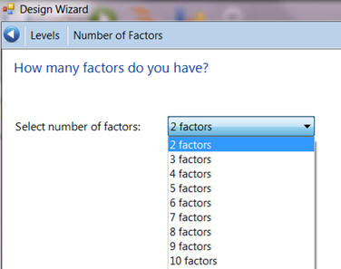 Select the number of factors
