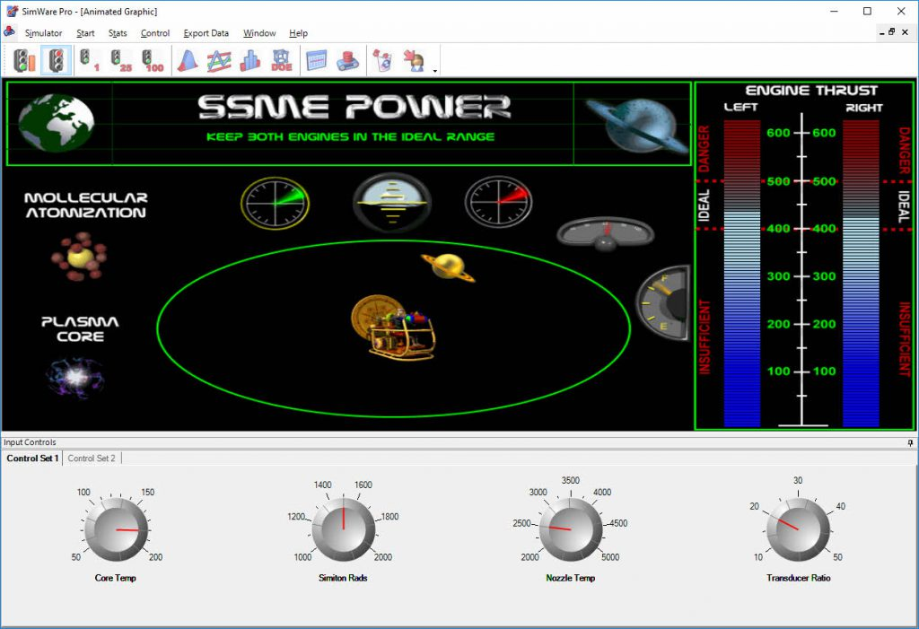 SimWare Pro Space Shuttle Multiple Engine Simulator