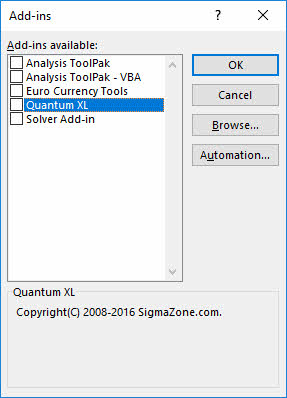 Quantum XL Not Checked in AddIn Window