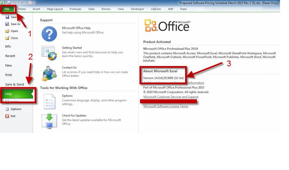 Excel 2010 Bitness